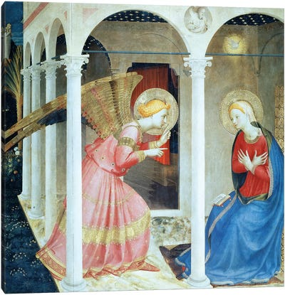 Annunciation Of Cortana, Church of Gesú, 1433-36 (Museo Diocesane, Cortana) Canvas Art Print