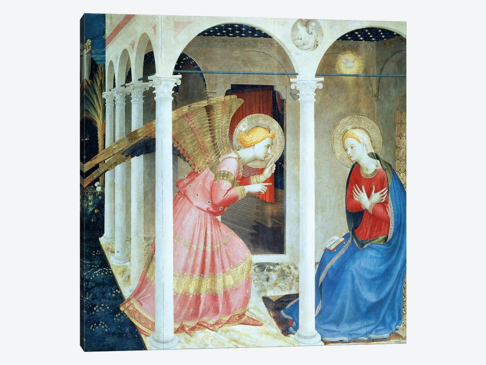 Annunciation Of Cortana, Church of Gesú, 1433-36 (Museo Diocesane, Cortana) by Fra Angelico 1-piece Art Print