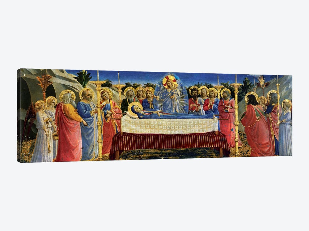 Death Of The Virgin, c.1432 by Fra Angelico 1-piece Canvas Wall Art