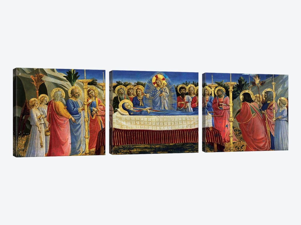 Death Of The Virgin, c.1432 by Fra Angelico 3-piece Canvas Artwork