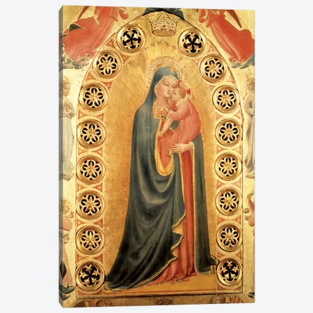Madonna of the Stars   Canvas Print #FRA24} by Fra Angelico Art Print