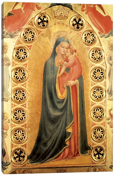 Madonna of the Stars   Canvas Art Print