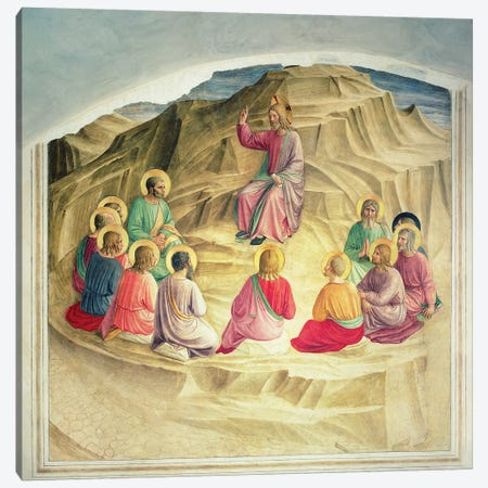 The Sermon on the Mount, 1442  Canvas Print #FRA25} by Fra Angelico Canvas Art Print
