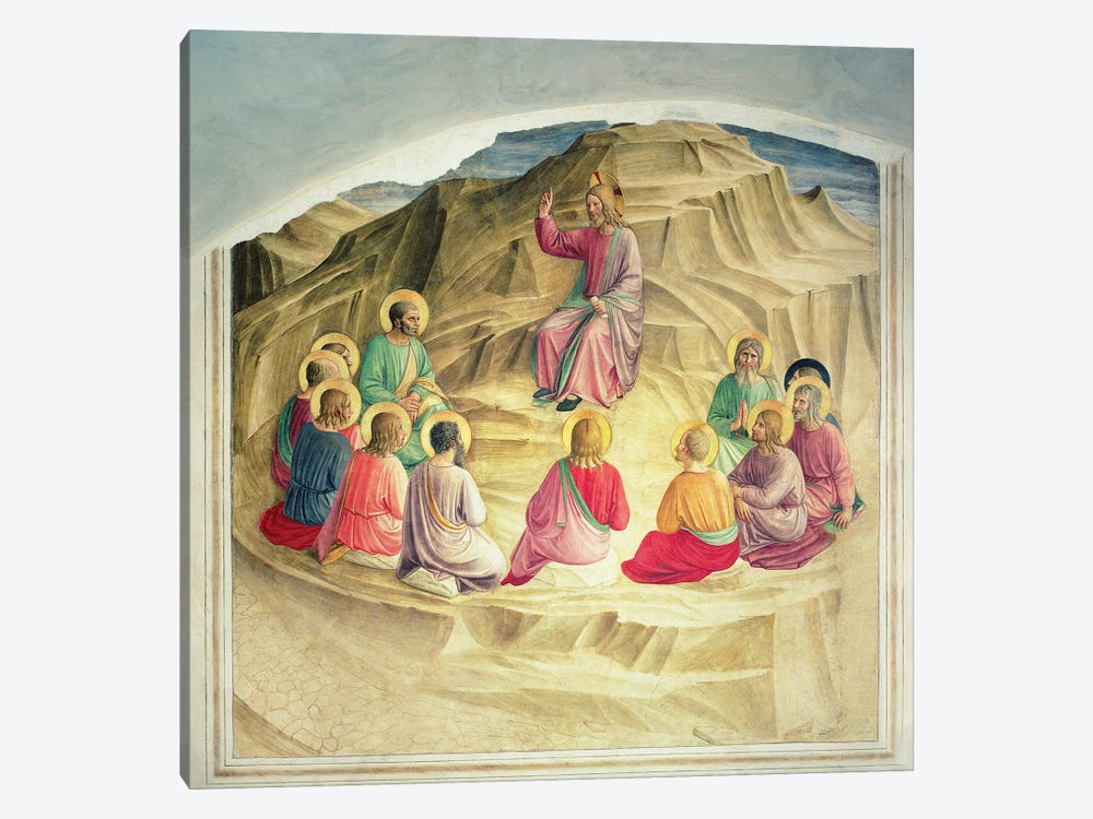 The Sermon on the Mount, 1442  by Fra Angelico 1-piece Canvas Art