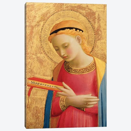Virgin Annunciate, 1450-55   3-Piece Canvas #FRA26} by Fra Angelico Canvas Print