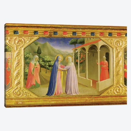 Visitation, from the predella of the Annunciation Alterpiece, c.1430-32  Canvas Print #FRA27} by Fra Angelico Art Print