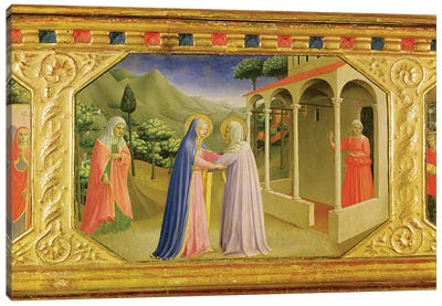 Visitation, from the predella of the Annunciation Alterpiece, c.1430-32  Canvas Art Print