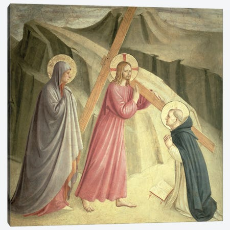 Christ Carrying The Cross, c.1438-45 Canvas Print #FRA28} by Fra Angelico Canvas Art