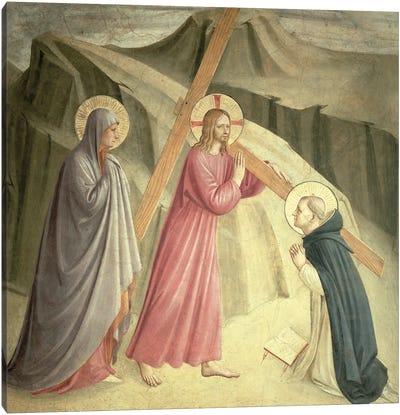 Christ Carrying The Cross, c.1438-45 Canvas Art Print