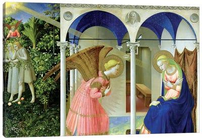 The Annunciation, Convent of Santo Domenico in Fiesole, 1426 (Museo del Prado) Canvas Art Print