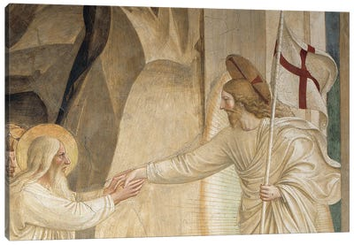 Detail Of Abraham And Jesus, The Descent Into Limbo, 1442 Canvas Art Print