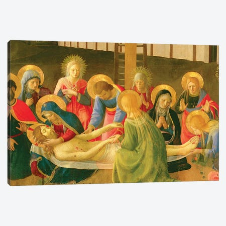 Detail of Center, Lamentation Over The Dead Christ, 1436-41 Canvas Print #FRA31} by Fra Angelico Canvas Art Print