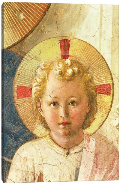 Detail Of Head, The Christ Child, The Madonna Delle Ombre (Madonna of the Shadows), 1450 Canvas Art Print