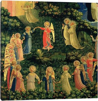 Detail Of Paradise, The Last Judgement, c.1425-30 Canvas Art Print