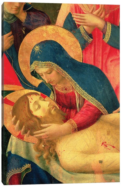 Detail Of The Virgin Mary Holding Christ, Lamentation Over The Dead Christ, c.1436-40 Canvas Art Print