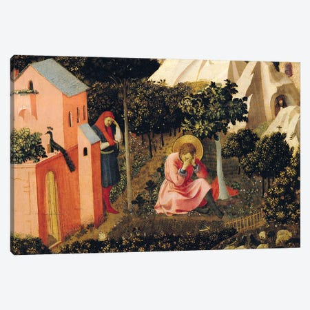 The Conversion Of St. Augustine (Musée Thomas-Henry) Canvas Print #FRA39} by Fra Angelico Art Print