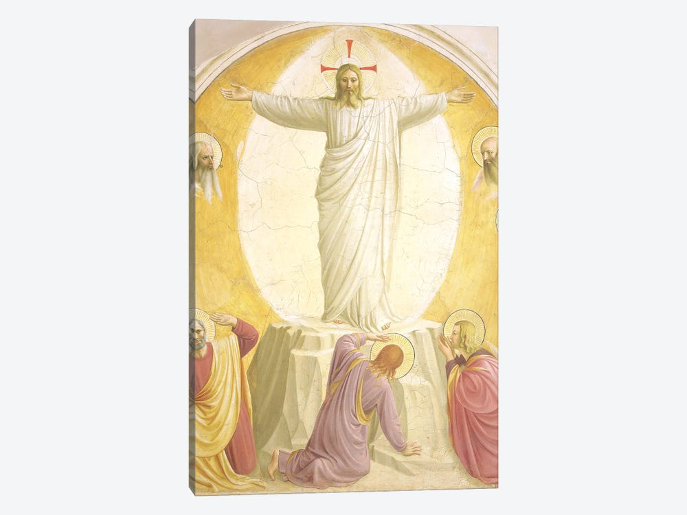 The Transfiguration, 1442 by Fra Angelico 1-piece Canvas Wall Art