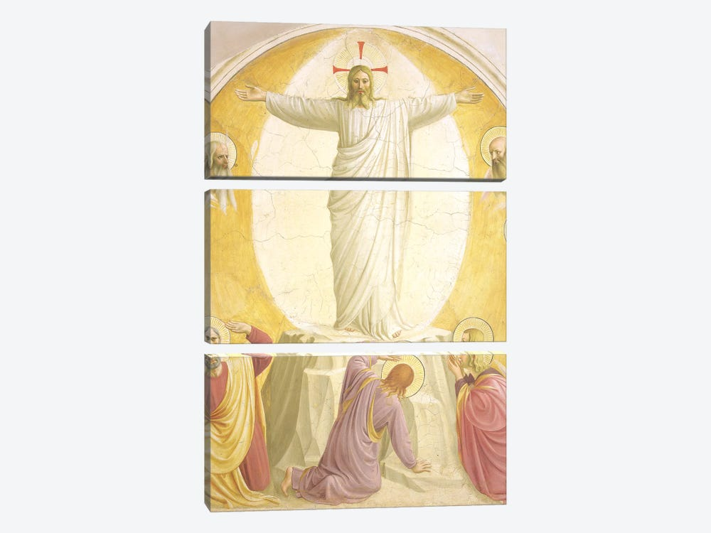 The Transfiguration, 1442 by Fra Angelico 3-piece Canvas Wall Art