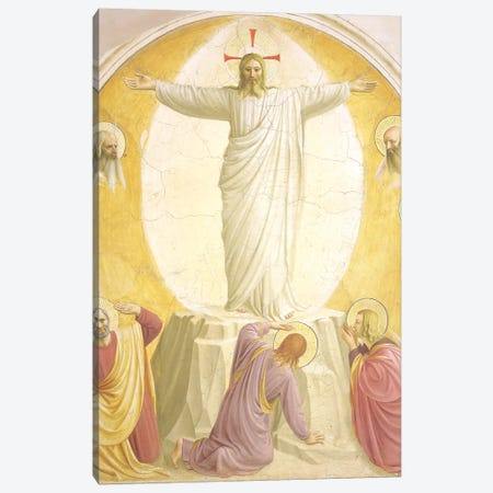 The Transfiguration, 1442 Canvas Print #FRA4} by Fra Angelico Canvas Art Print