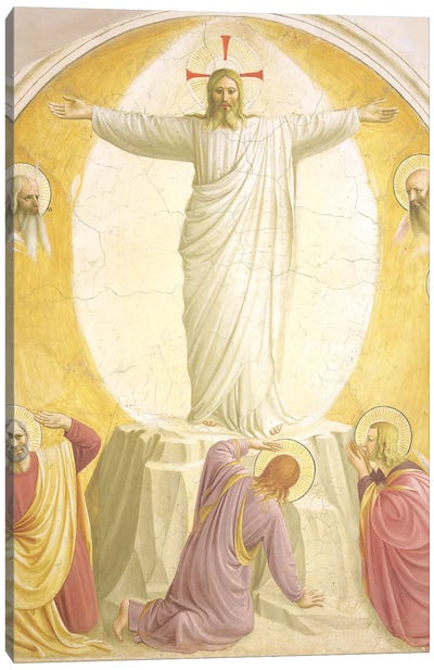 The Transfiguration, 1442 Canvas Art Print