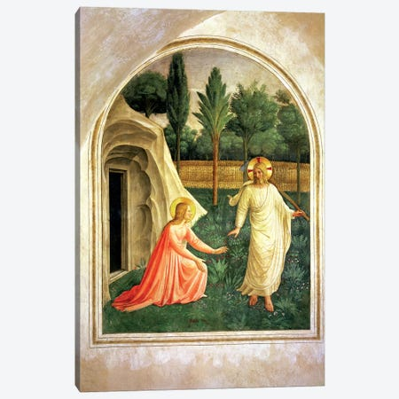 Noli Me Tangere, 1442 Canvas Print #FRA5} by Fra Angelico Canvas Art Print