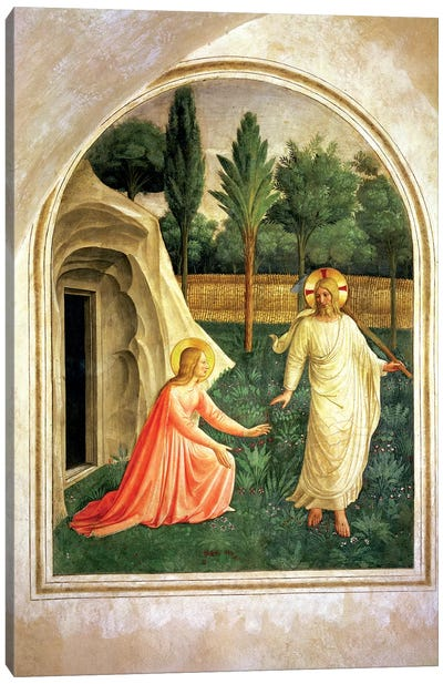 Noli Me Tangere, 1442 Canvas Art Print