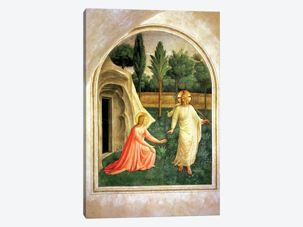 Noli Me Tangere, 1442 by Fra Angelico 1-piece Canvas Art Print