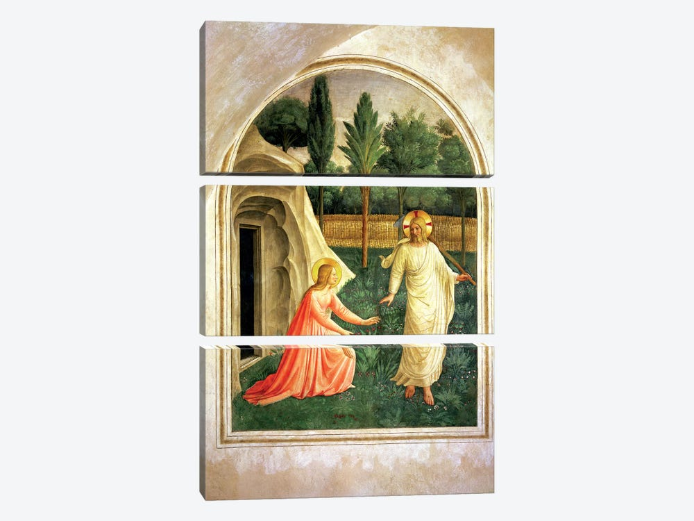 Noli Me Tangere, 1442 by Fra Angelico 3-piece Art Print