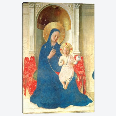 Deatil Of The Enthroned Virgin And Child, Madonna delle Ombre, 1450 Canvas Print #FRA6} by Fra Angelico Canvas Print
