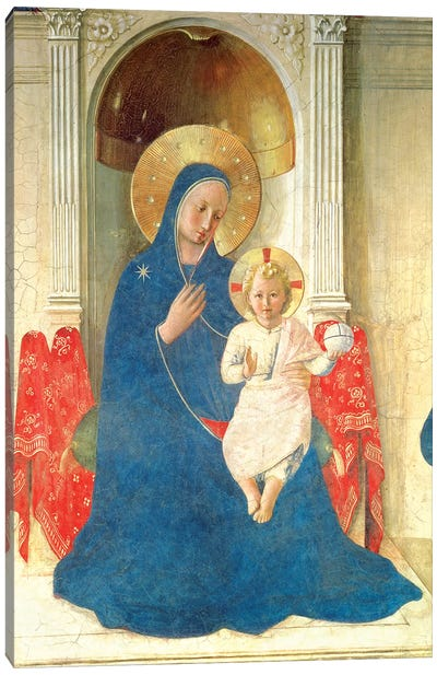 Deatil Of The Enthroned Virgin And Child, Madonna delle Ombre, 1450 Canvas Art Print