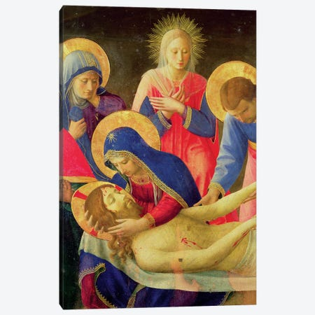 Lamentation Over The Dead Christ, 1436-41 Canvas Print #FRA7} by Fra Angelico Canvas Art Print