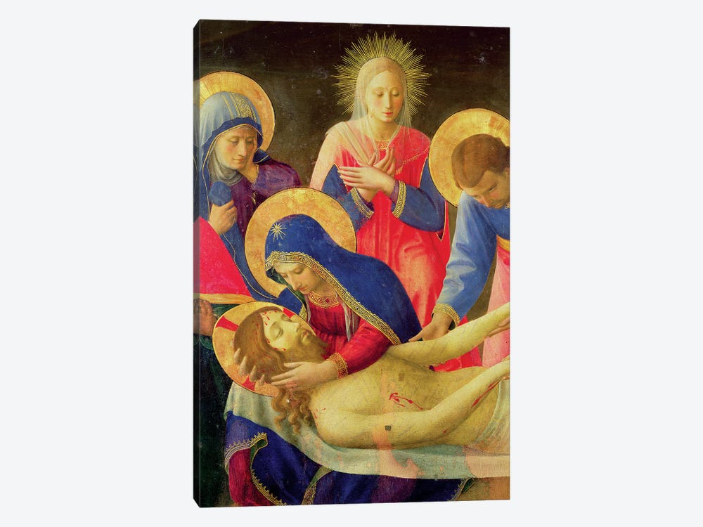 Lamentation Over The Dead Christ, 1436-41 by Fra Angelico 1-piece Art Print