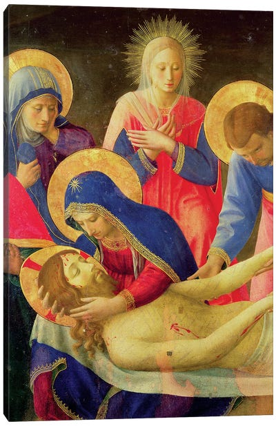 Lamentation Over The Dead Christ, 1436-41 Canvas Art Print