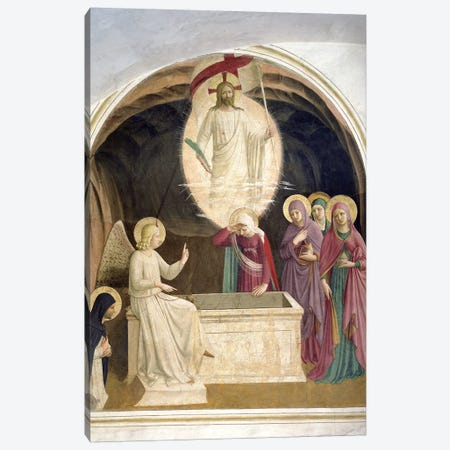 The Resurrection Of Christ And The Pious Women At The Sepulchre, 1442 Canvas Print #FRA8} by Fra Angelico Canvas Artwork