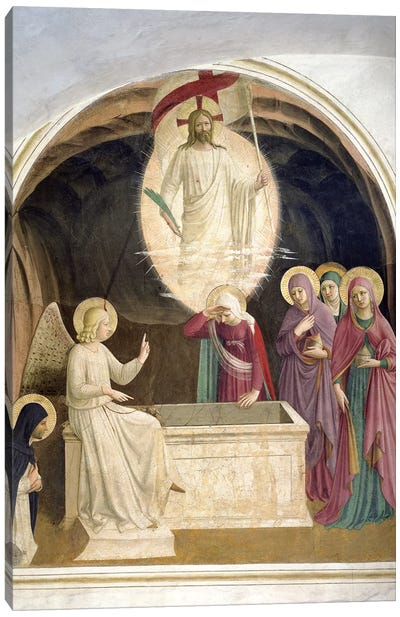 The Resurrection Of Christ And The Pious Women At The Sepulchre, 1442 Canvas Art Print