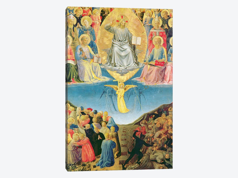 Detail Of Last Judgement, Palazzo Barberini Triptych by Fra Angelico 1-piece Canvas Art Print