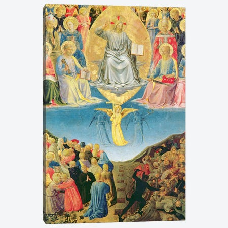 Detail Of Last Judgement, Palazzo Barberini Triptych 3-Piece Canvas #FRA9} by Fra Angelico Canvas Artwork