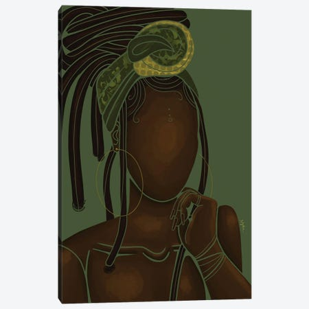 Natural Canvas Print #FRC10} by Colored Afros Art Canvas Art Print