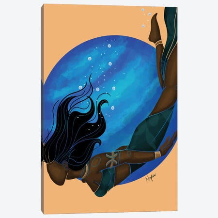 Pisces Canvas Print #FRC12} by Colored Afros Art Canvas Print