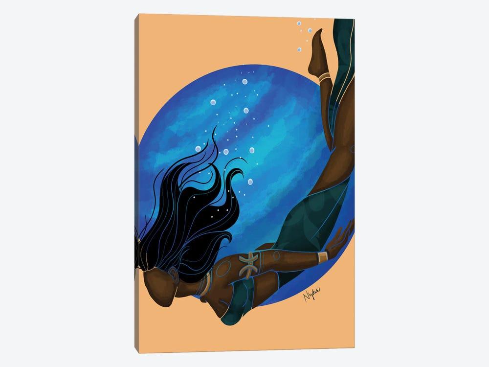 Pisces by Colored Afros Art 1-piece Canvas Print