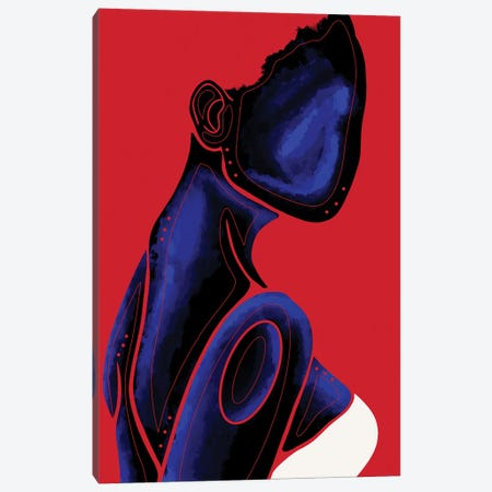 Sapphire Canvas Print #FRC16} by Colored Afros Art Canvas Art