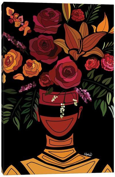 Sunset Flowers Canvas Art Print