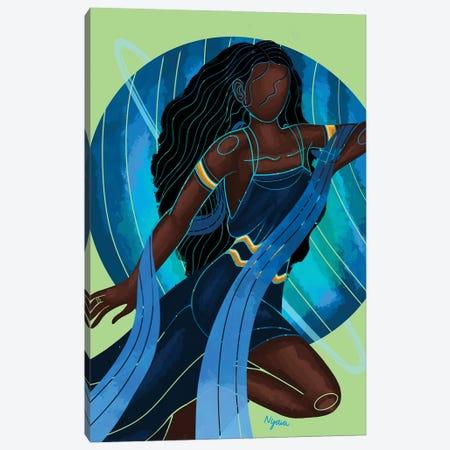 Aquarius Canvas Print #FRC1} by Colored Afros Art Canvas Artwork