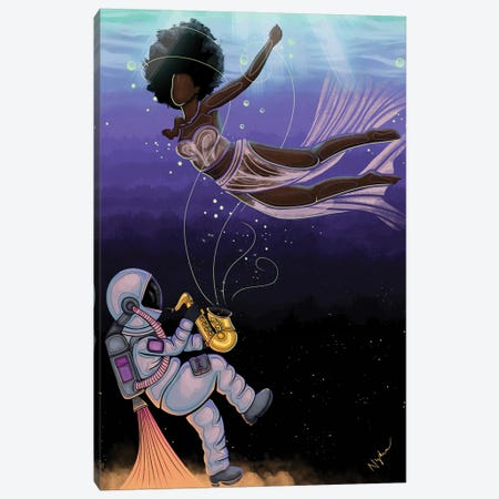 Transcendence Canvas Print #FRC21} by Colored Afros Art Canvas Art