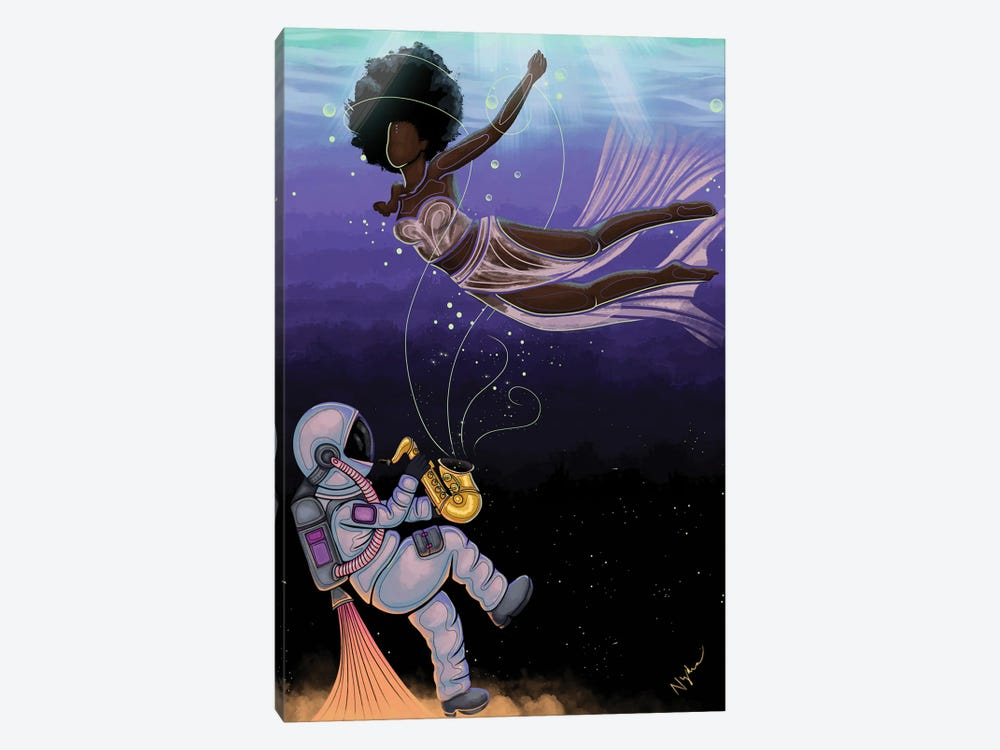 Transcendence by Colored Afros Art 1-piece Art Print