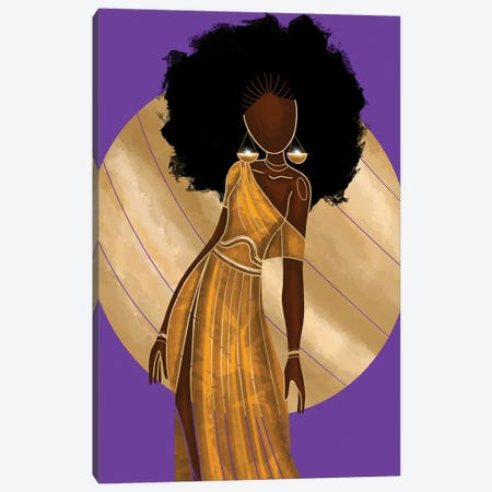 Libra Canvas Print #FRC25} by Colored Afros Art Canvas Art Print