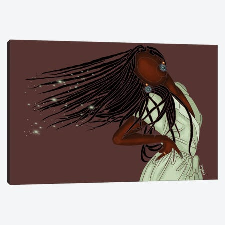 I Am Magic Canvas Print #FRC26} by Colored Afros Art Canvas Art Print