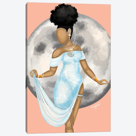 Cancer Canvas Print #FRC27} by Colored Afros Art Canvas Print