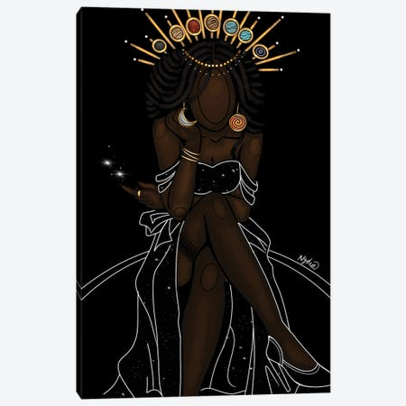 Celestial Goddess Canvas Print #FRC29} by Colored Afros Art Canvas Wall Art