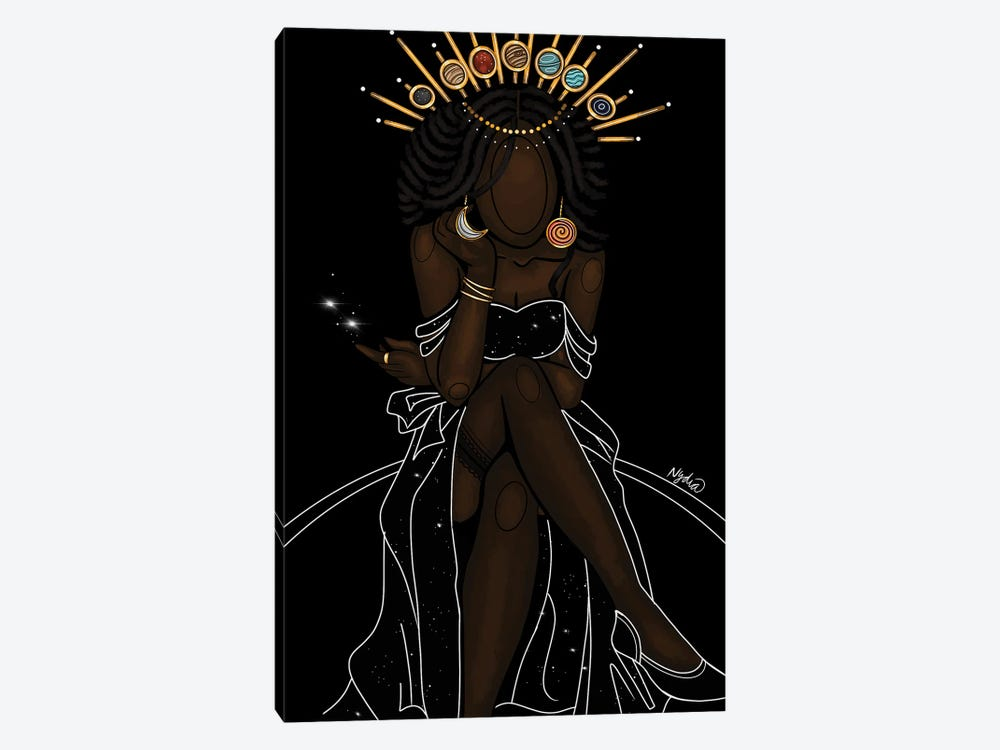 Celestial Goddess by Colored Afros Art 1-piece Canvas Print
